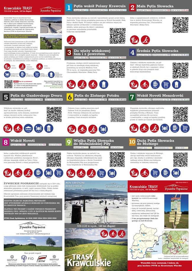 Krawculskie Trasy mapa - opis
